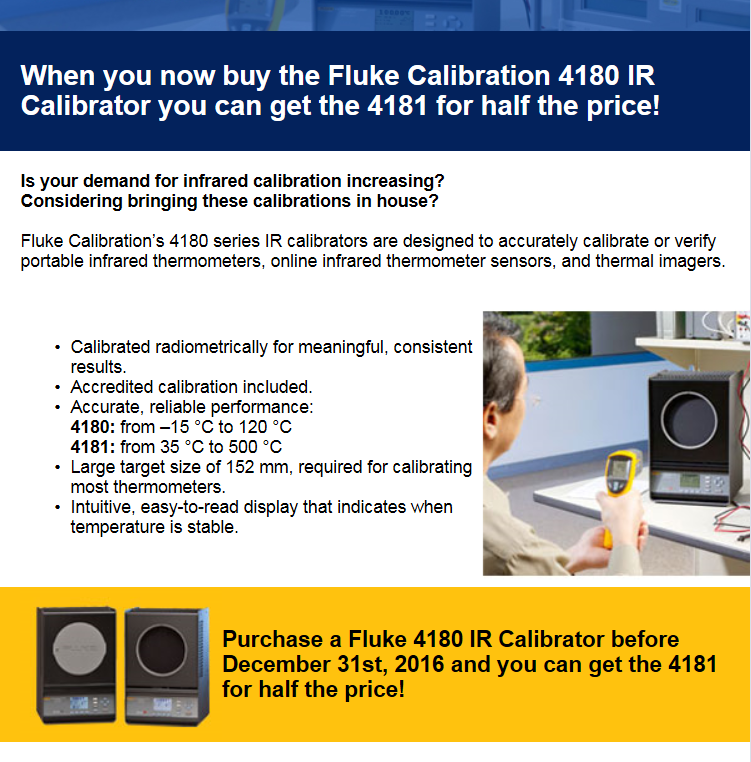 Buy Fluke 4180 Calibrator and get the 4181 half price